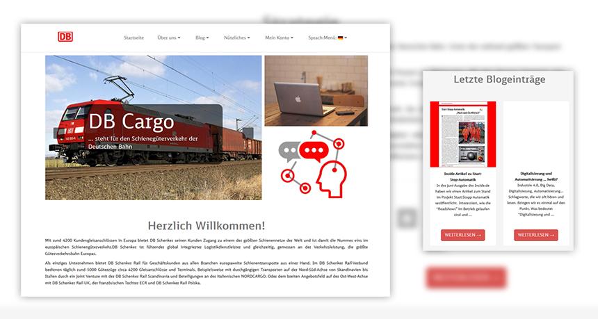 DB Cargo/DB Schenker Rail – Mitarbeiterseite
