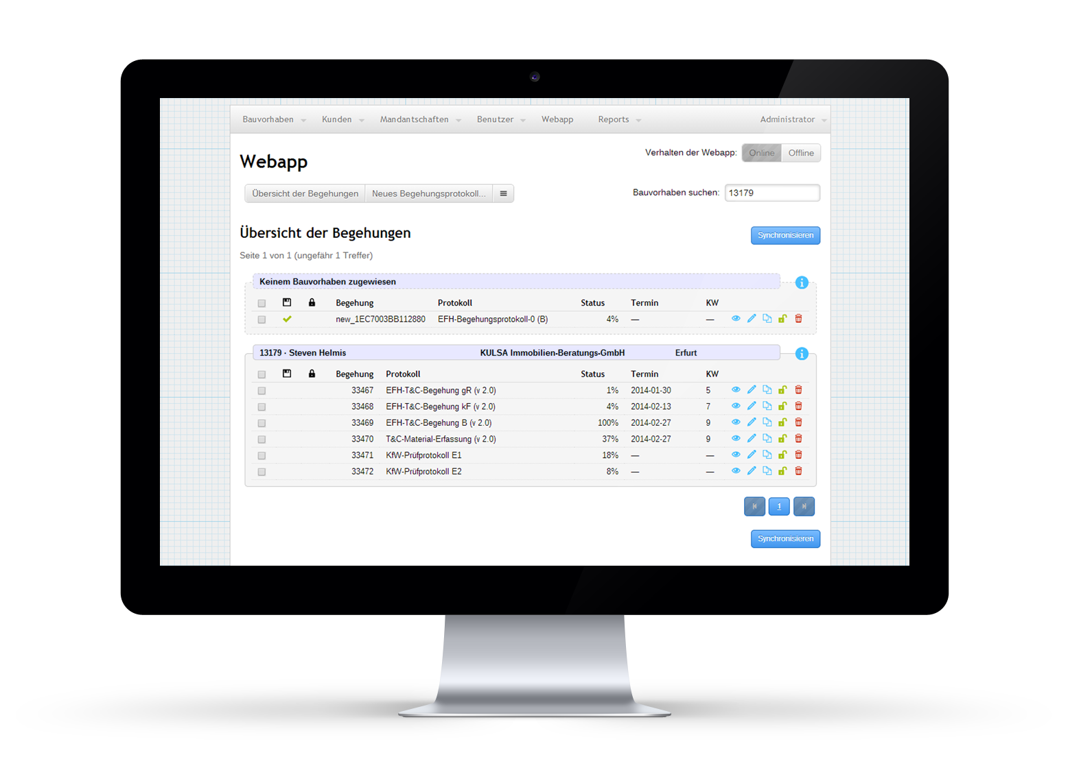 Webanwendung für Unternehmen und Organisationen von Scitotec