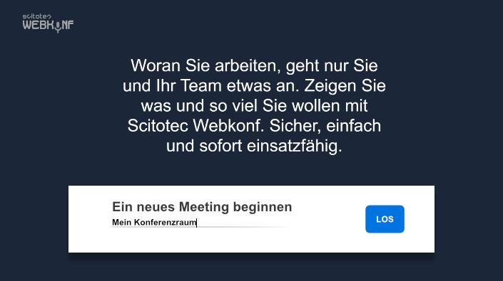 Scitotec Webkonf ist eine webbasierte Anwendung zur Durchführung von Webkonferenzen